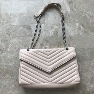 Chevron Quilted Chain Strap Bag